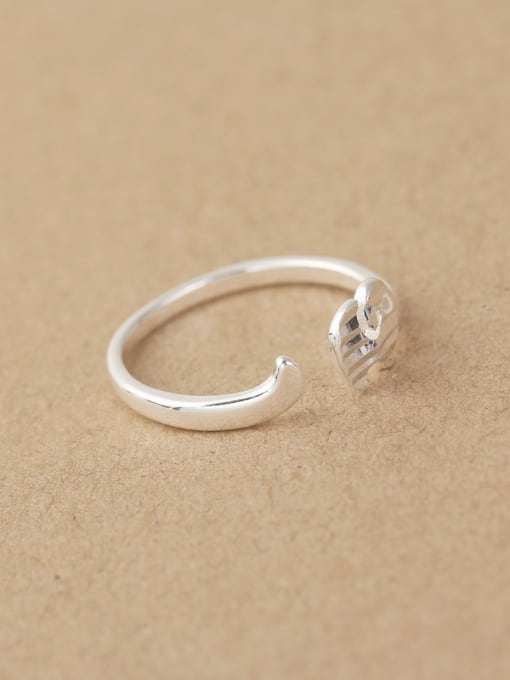 Peng Yuan Simple Striated Little Elephant Opening Midi Ring 2