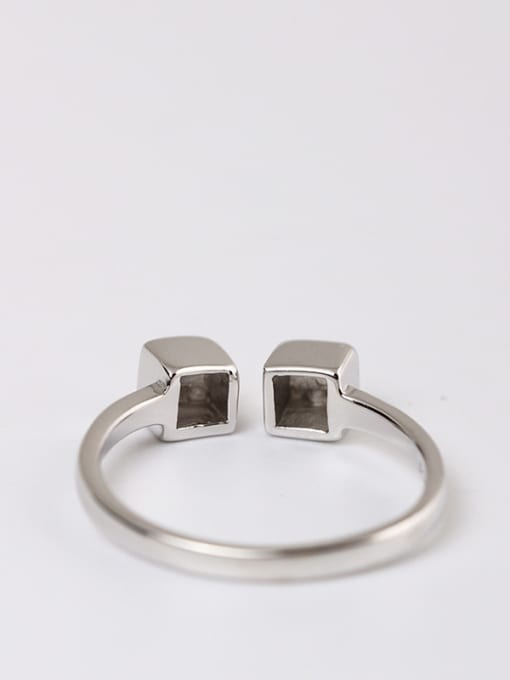 SILVER MI Shining Simple Style Opening Ring 2