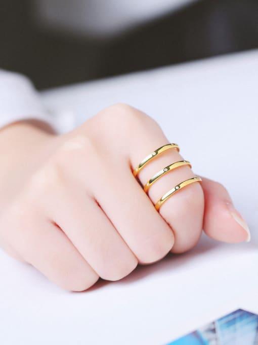 Peng Yuan Fashion Three-band Zircon Ring 1