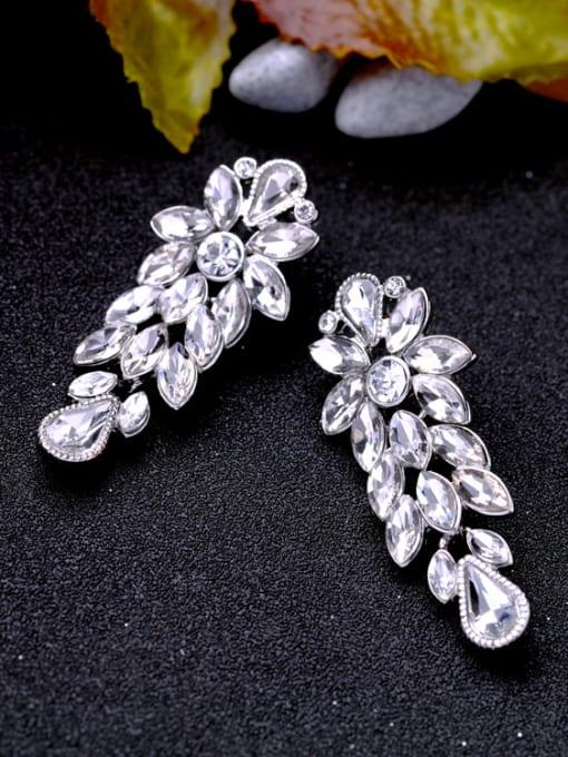 KM Shining Wedding Accessories Stud Cluster earring 1