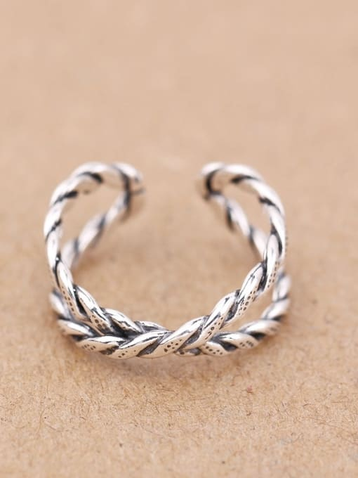 Peng Yuan Retro style Twisted Opening Midi Ring 0