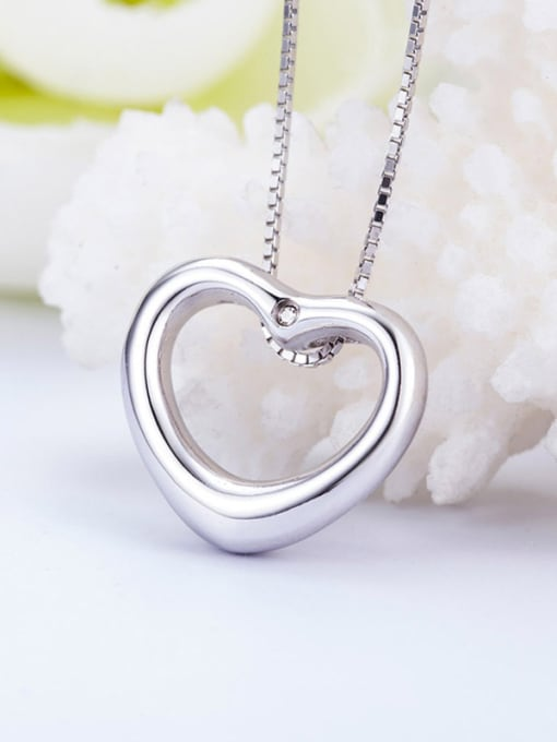 One Silver All-match Heart shaped Pendant 3