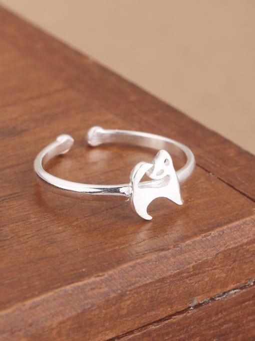 Peng Yuan Simple Little Puppy Opening Midi Ring 1