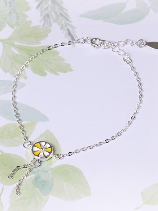 SILVER MI Fashion Lemon Simple Silver Bracelet 1