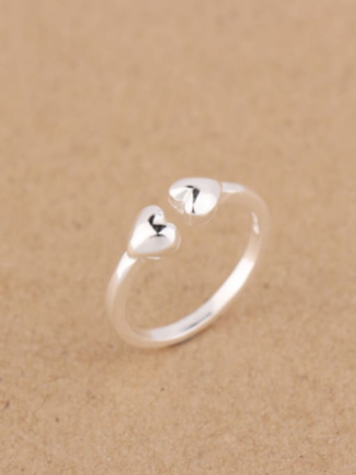 Peng Yuan Simple Heart-shaped Opening Midi Ring 2