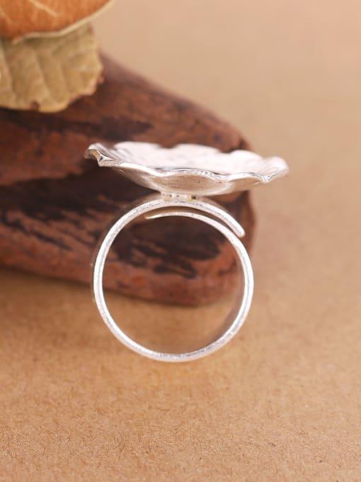 Peng Yuan Ethnic Round Handmade Silver Ring 2