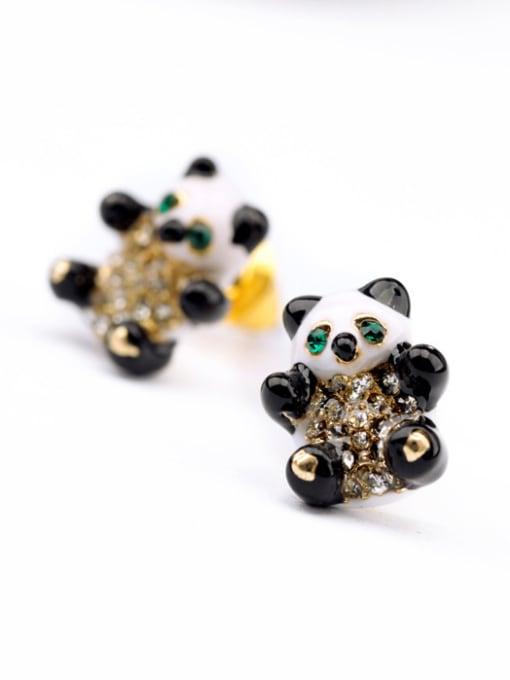 KM Lovely Panda Women's stud Earring 1
