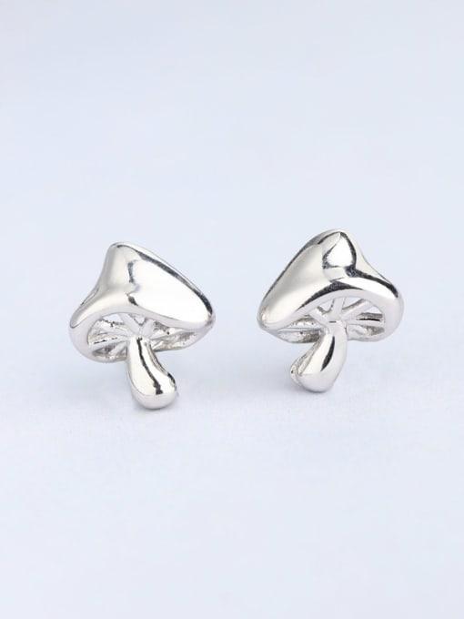 white Women Exquisite Mushroom Shaped stud Earring