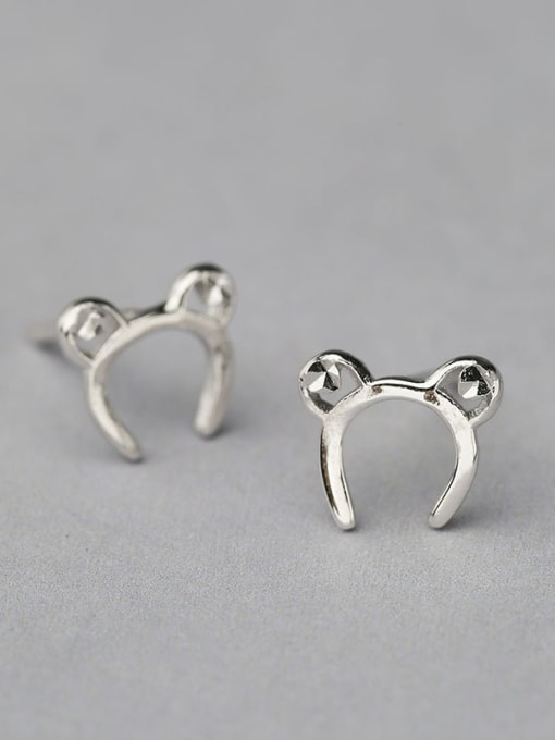 One Silver Women Cute Mickey Mouse earring 2