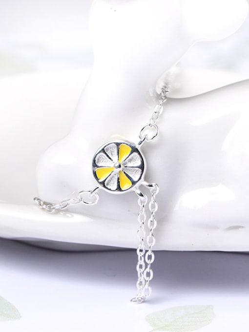 SILVER MI Fashion Lemon Simple Silver Bracelet