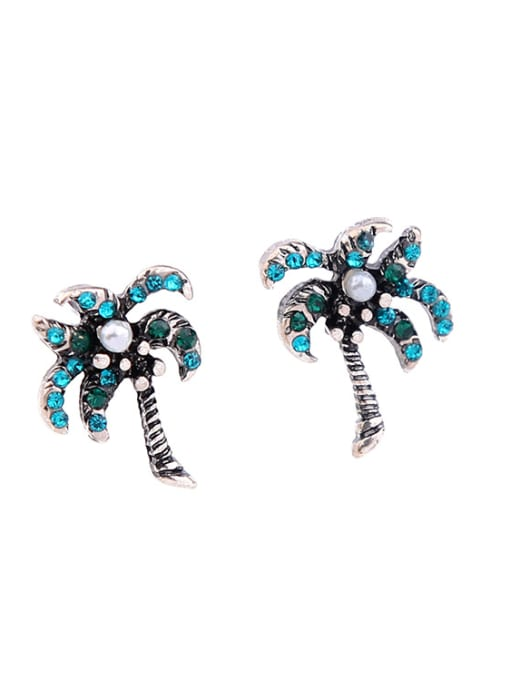 KM Alloy Women Tree-shape stud Earring 3
