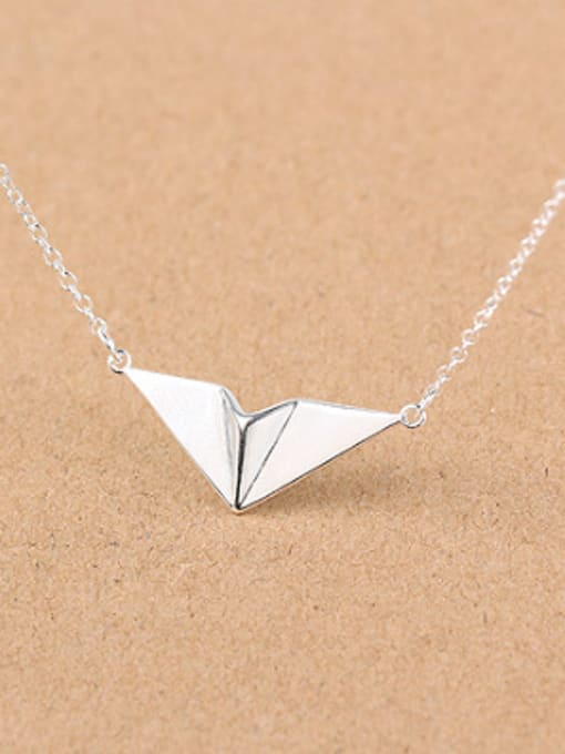 Peng Yuan Personalized Paper Plane Silver Necklace 0