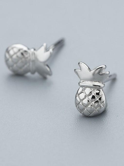 One Silver Cute Pineapple Shaped stud Earring 1