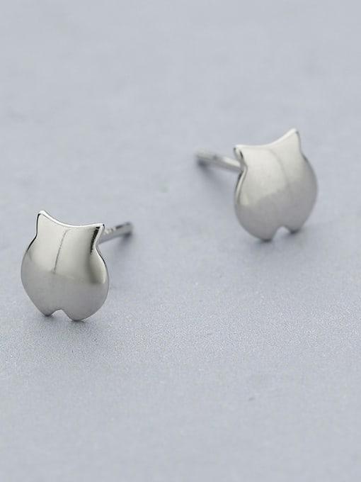 White Cute Fish Shaped Stud Earrings
