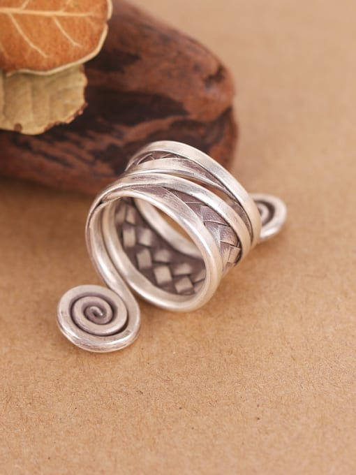Peng Yuan Personalized Ethnic style Silver Ring 2