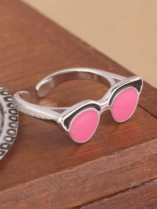 Peng Yuan Creative Glasses Silver Opening Ring 1