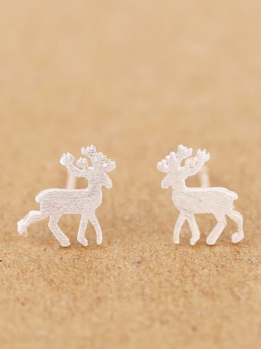 Peng Yuan Simple Tiny Deer stud Earring 0