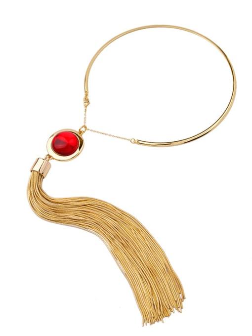 KM Long Tassel Pendant Women' s Necklace 1
