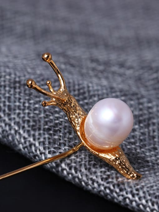 SILVER MI High Quality Animal Snail Brooch 2