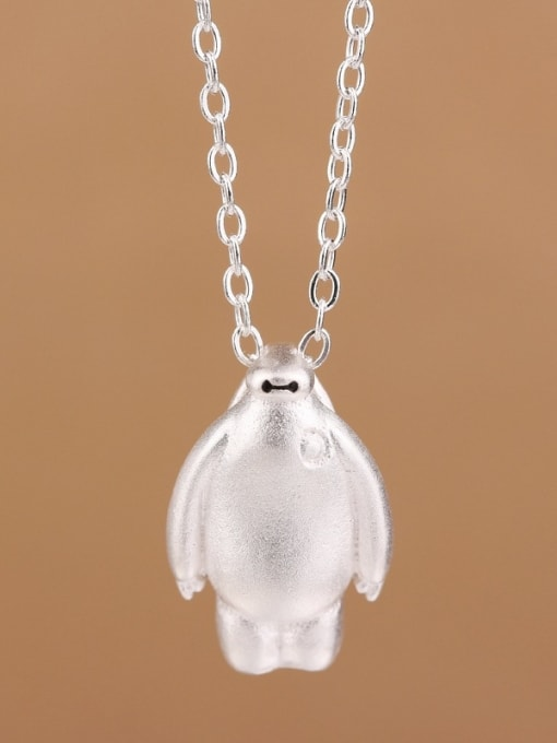Peng Yuan Personalized Cartoon Baymax Silver Necklace 0