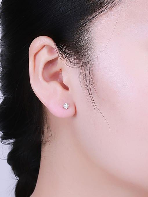 One Silver 925 Silver Multi Corner Shaped cuff earring 1