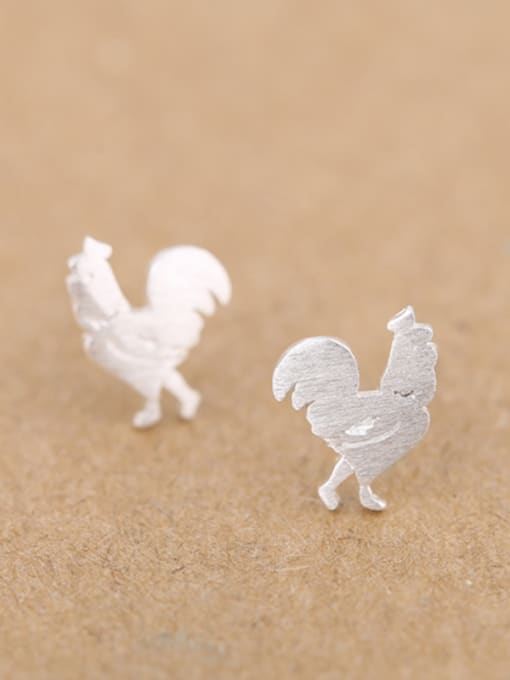 Peng Yuan Tiny Rooster Silver Opening Ring 2