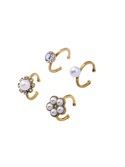 KM Simple Opening Ring Four Pieces Set