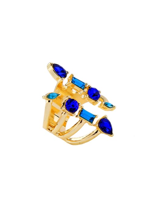 KM Gold Plated Luxury Opening Stacking Ring 1