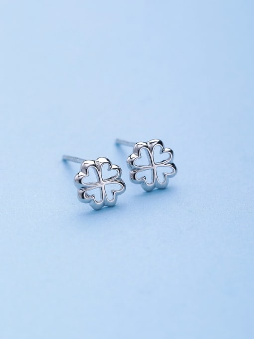 One Silver Fashion 925 Silver Snowflake Shaped stud Earring 3