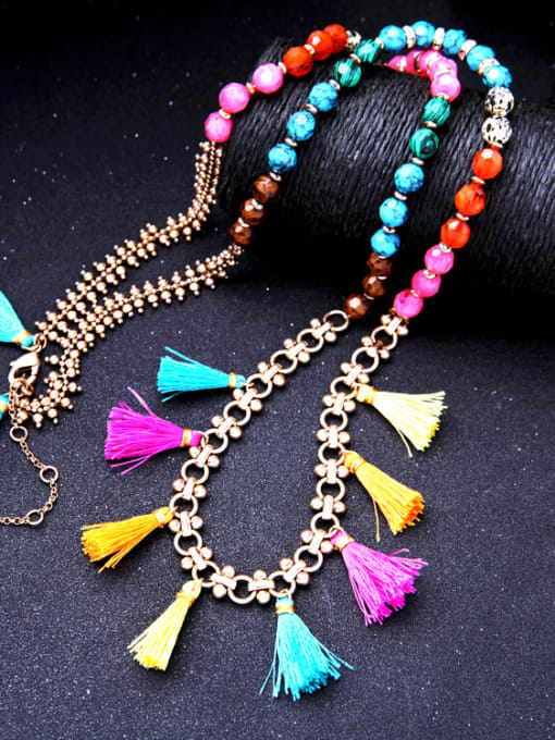 KM Long Colorful Sweater Necklace 3