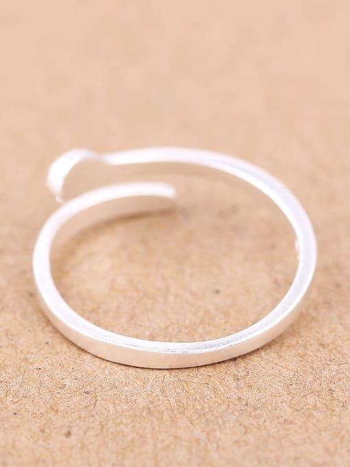Peng Yuan Simple Matte Silver Opening Midi Ring 1
