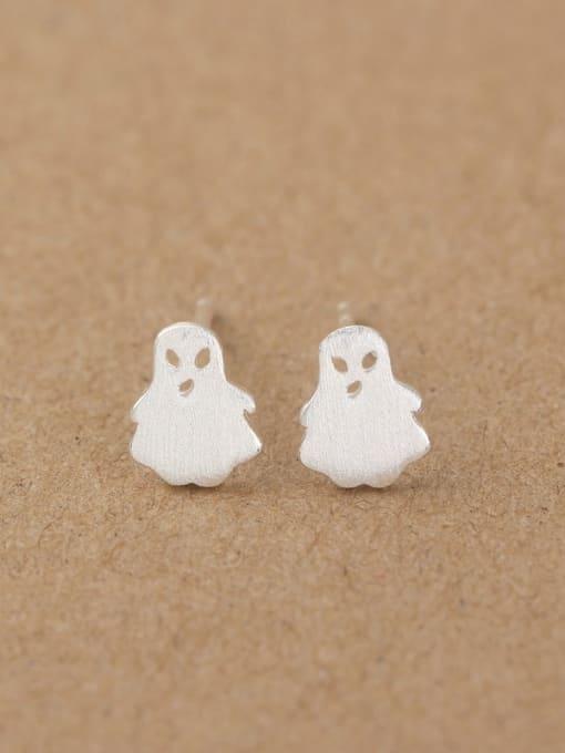 Peng Yuan Tiny Ghost Silver stud Earring