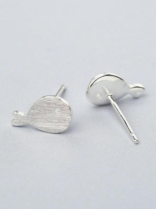 One Silver Women Lovely Fish Shaped Earrings 3