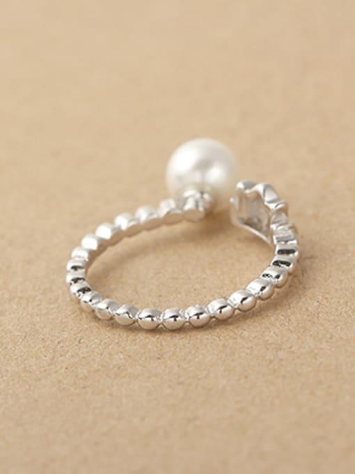 Peng Yuan Freshwater Pearl Crown Opening Midi Ring 2