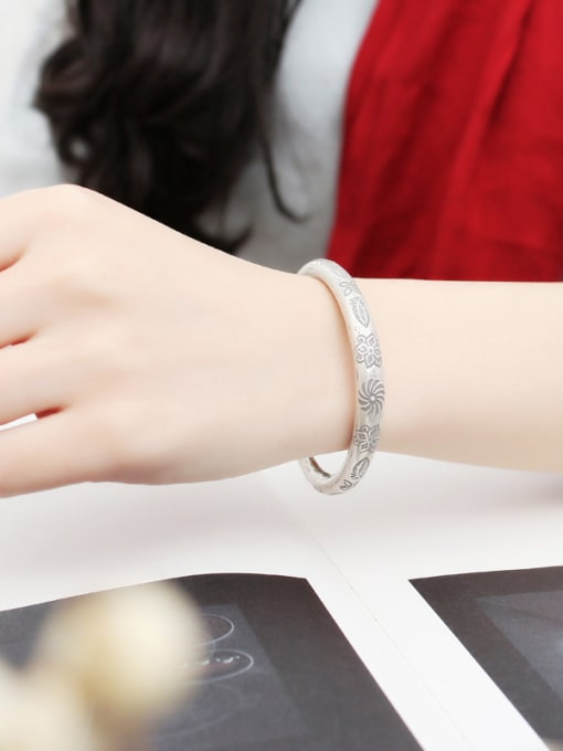 Peng Yuan Retro style Handmade Opening Bangle 1