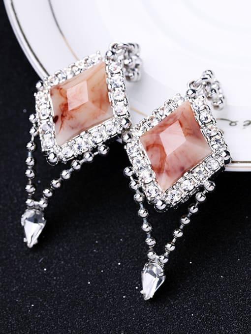 KM Geometric Stones Wedding Accessories drop earring 1