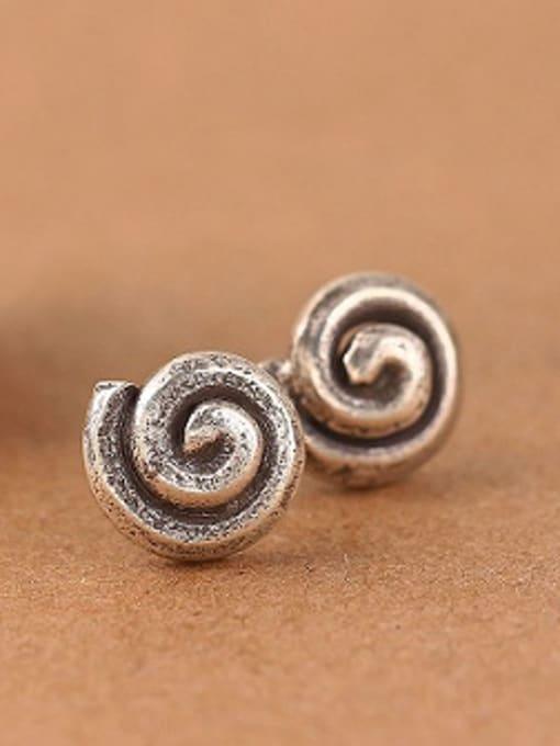 Peng Yuan Retro Thai Silver stud Earring 0