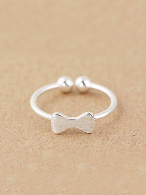 Peng Yuan Tiny Bowknot Beads Opening Ring 0