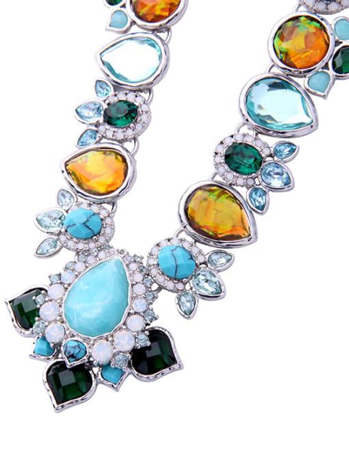 KM Shining Irregular Stones Women Necklace 1