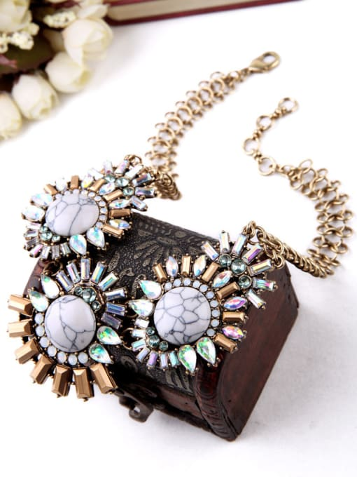 KM Western style Artificial Stones Women Necklace 1