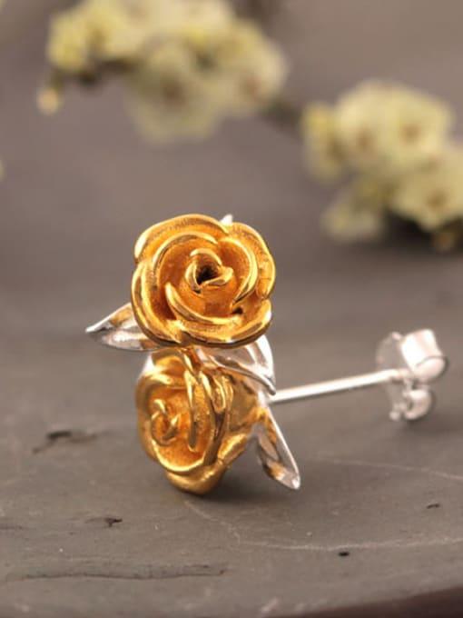 SILVER MI Personal Rose Women stud Earring 1