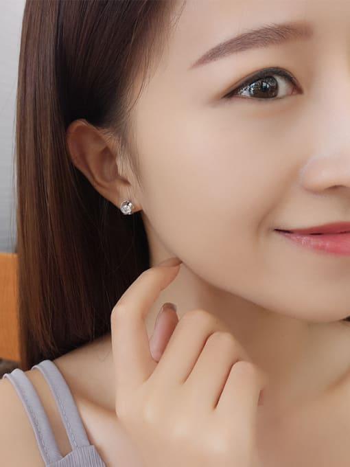 One Silver 925 Silver Flower-shaped stud Earring 1