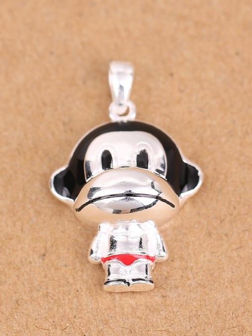 Peng Yuan Lovely Little Monkey Silver Pendant 0