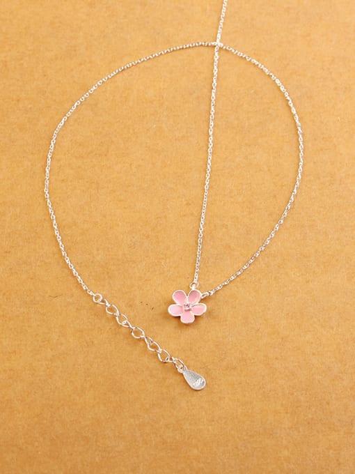 Peng Yuan Fashion Little Pink Flower Necklace 1