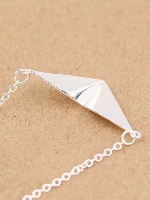 Peng Yuan Personalized Paper Plane Silver Necklace 2