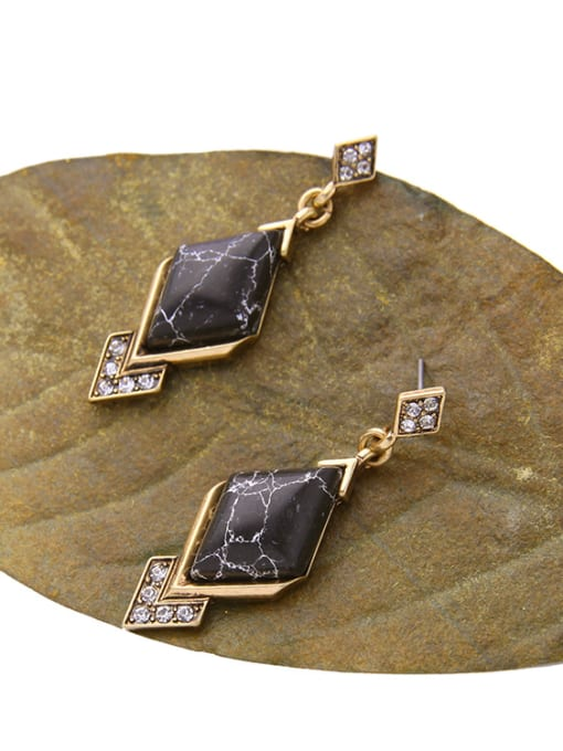 KM Geometric Stones Women drop earring 1