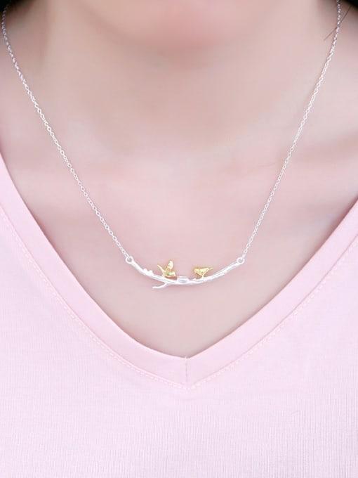Peng Yuan Personalized Little Birds Branch Necklace 1
