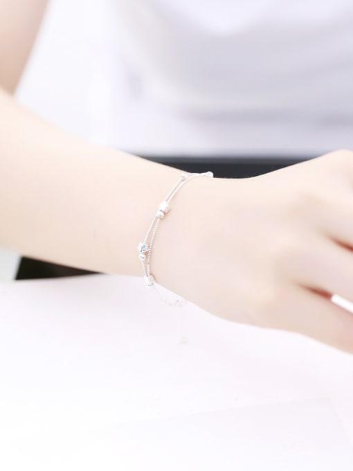 Peng Yuan Simple Tiny Flowers Silver Bracelet 2