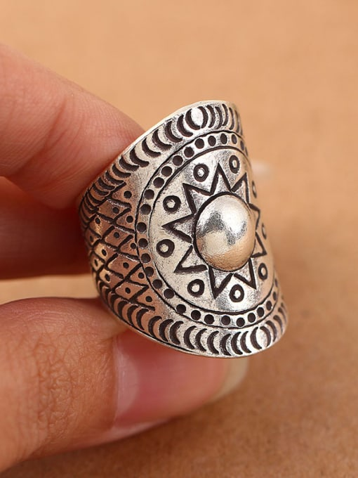 Peng Yuan Ethnic Personalized Silver Opening Ring 1