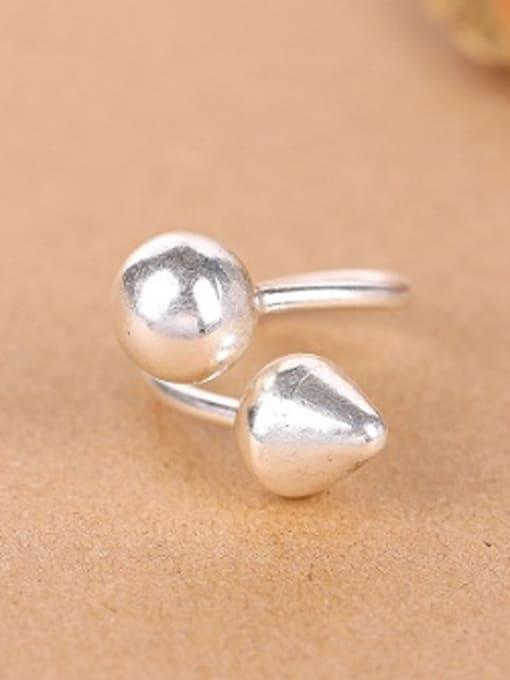 Peng Yuan Geometrical Handmade Silver Opening Ring